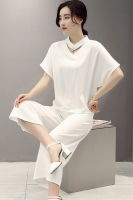 BAJU FASHION KOREA - 2PCS White Set Pants