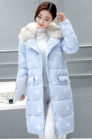 JAKET BULU WANITA - Blue Down Coat with Fur