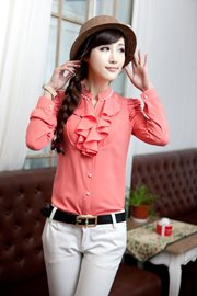 BAJU KOREA ONLINE - Red Charming Blouse