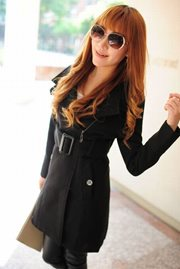 COAT KOREA  Black Cashmere Korean Long Coat