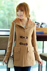 COAT WANITA KOREA - Beige Worsted Wool Coat