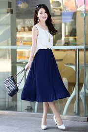 DRESS CANTIK KOREA - Blue elegant Dress