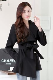 JAKET WANITA KOREA - Black Korean Coat