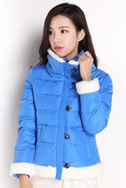 JAKET MUSIM DINGIN KOREA - Blue Padded Jacket