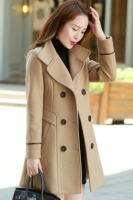 LONG COAT WANITA KOREA - Khaki Trendy Coat