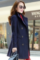 LONG COAT WANITA KOREA - NavyBlue Trendy Coat
