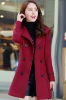 LONG COAT WANITA KOREA - Red Trendy Coat