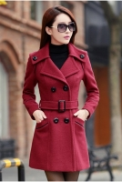 JAKET MUSIM DINGIN BIG SIZE - Red Trendy Coat
