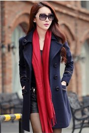 JAKET MUSIM DINGIN BIG SIZE - Navy Trendy Coat