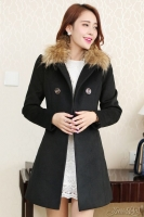JAKET BULU KOREA - Black Modern Fur Coat