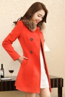JAKET BULU KOREA - Orange Modern Fur Coat