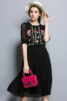 DRESS FLORAL EMBROIDERY - Premium Embroidery Chiffon Dress