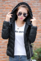 JAKET HOODIE WANITA KOREA BIG SIZE - Black Korean Jacket