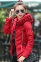 JAKET HOODIE WANITA KOREA BIG SIZE - Red Korean Jacket