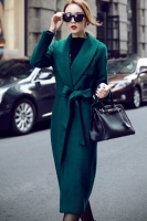 LONG COAT KOREA - Green Woolen Long Coat