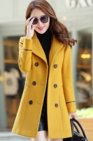 LONG COAT WANITA KOREA - Yellow Trendy Coat