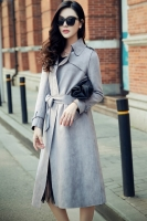 LONG COAT WANITA KOREA - Gray Trendy Long Blazer
