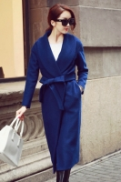 LONG COAT KOREA - Blue Woolen Long Coat
