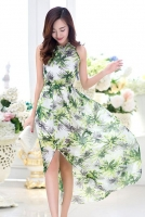 MAXI DRESS KOREA STYLE - Floral Chiffon Dress