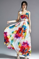 LONG DRESS PANTAI - Floral Korean Maxi Dress
