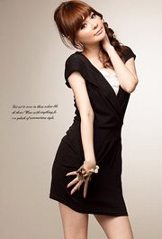 Black Hoodie Big Size Dress - DRESS KOREA