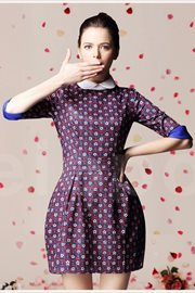 DRESS CANTIK KOREA - Peterpan Collar Dress