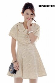 DRESS CANTIK KOREA STYLE - Goldie Look Dress