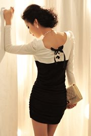 BAJU KOREA STYLE - Long Sleeved Elegant Dress