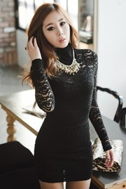 DRESS LACE KOREA - Sexy Lace Dress