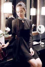 DRESS WANITA KOREA - Black Beauty Dress