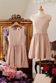 DRESS CANTIK KOREA - Pink Sweet Dress