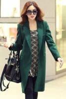 JAKET BIG SIZE KOREA TERBARU - Green Long Coat