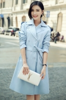 COAT WANITA KOREA - Blue Trendy Long Blazer