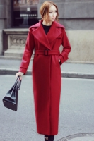 SUPER LONG COAT WANITA KOREA - Red Trendy Coat