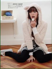Apricot Teddy korean Jacket - JAKET KOREAN STYLE