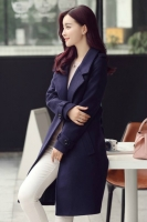 JAKET IMPORT KOREA - Navy KOREAN LONG COAT