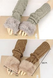 SARUNG TANGAN WINTER - Knitted Fingerless Gloves