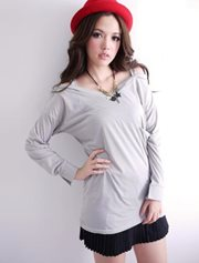 Gray Pocket Blouse - BLOUSE IMPORT