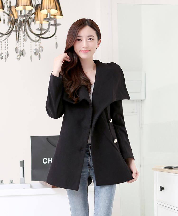 Jaket Wanita Korea Black Korean Coat