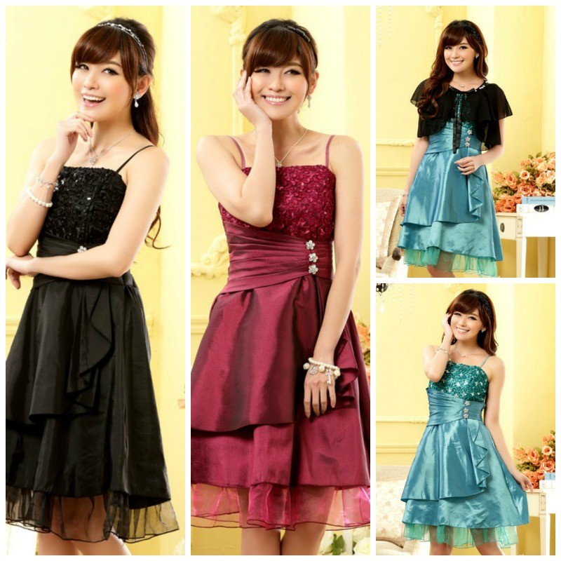 BAJU PESTA IMPORT KOREA - DRESS CANTIK KOREA - J9609