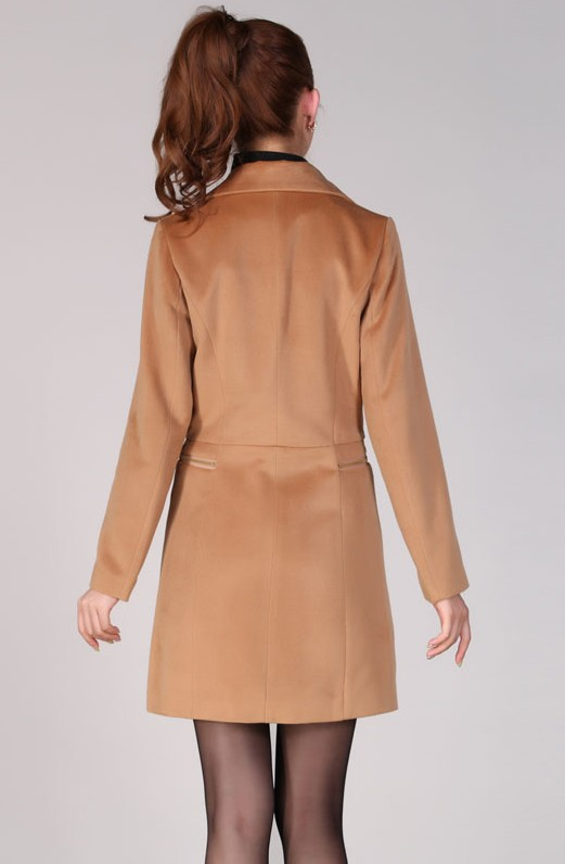 BAJU MUSIM DINGIN KOREA - LONG COAT KOREA - JAKET KOREA - JYB311108LightTan
