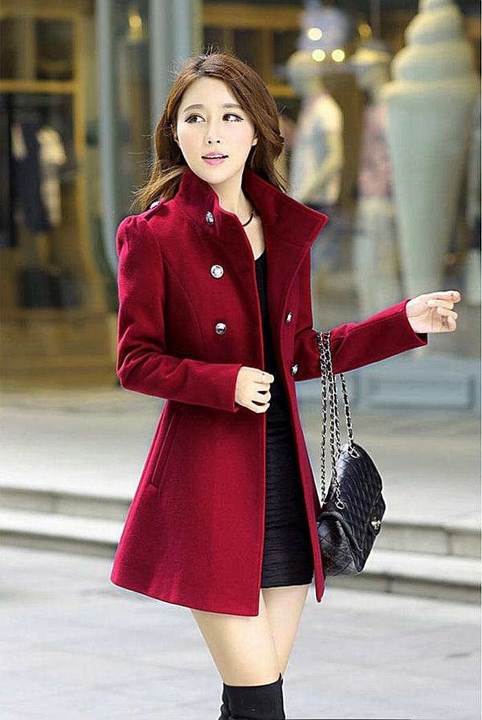 LONG COAT KOREA - BAJU KOREA ASLI - JYR5820Mauve