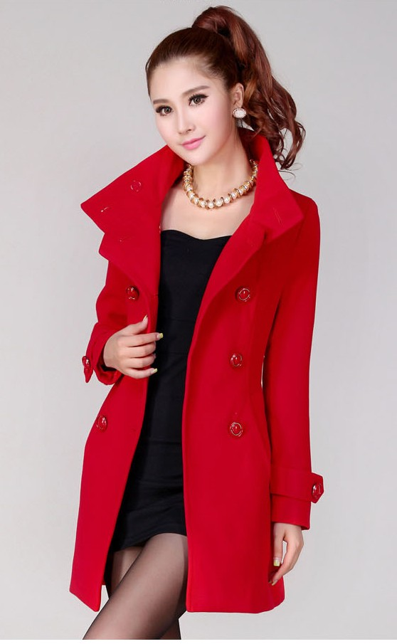 BAJU MUSIM DINGIN - LONG COAT KOREA - JYB331103Red