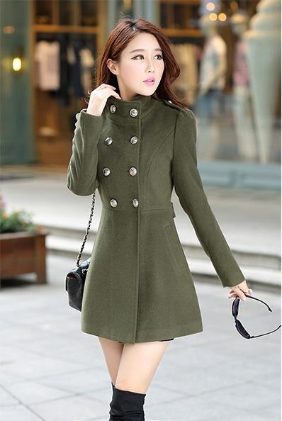 LONG COAT KOREA - BAJU KOREA ASLI - JYR5820Green